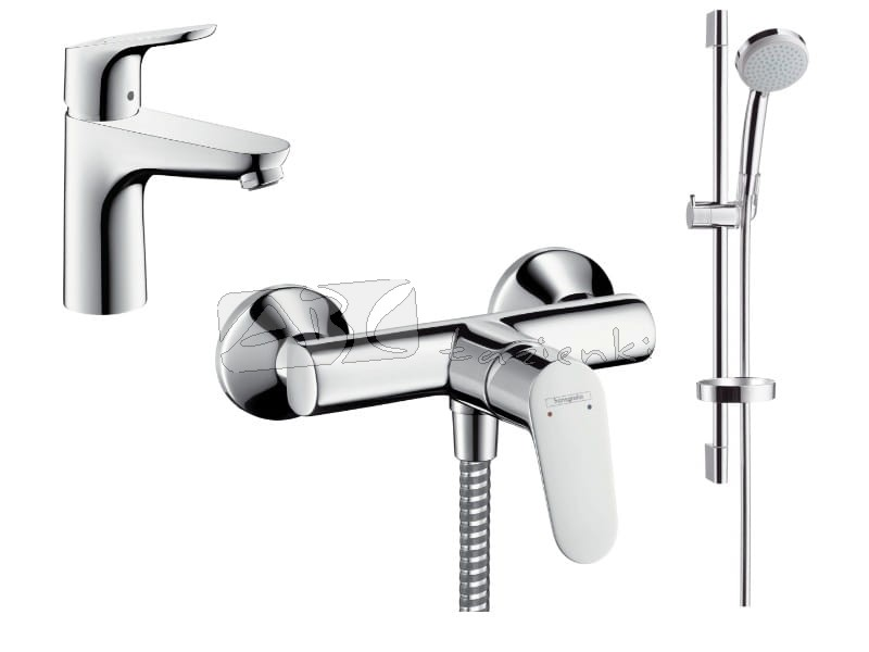 hansgrohe pakiet focus 100 prysznicowy 52054347 31607000 31960000 27772000 zestawy baterii. Black Bedroom Furniture Sets. Home Design Ideas