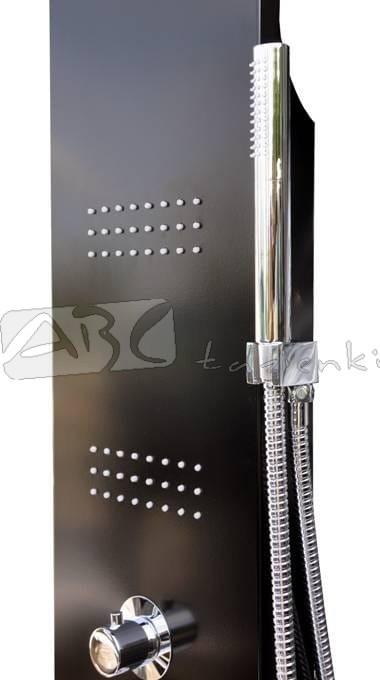 Corsan Panel Prysznicowy Akoja A 025 Czarny Panele Prysznicowe