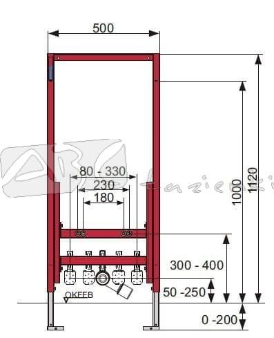 Zestaw Podtynkowy Tece Profil Do Bidetu 9330000 Stelaze Do Bidetu